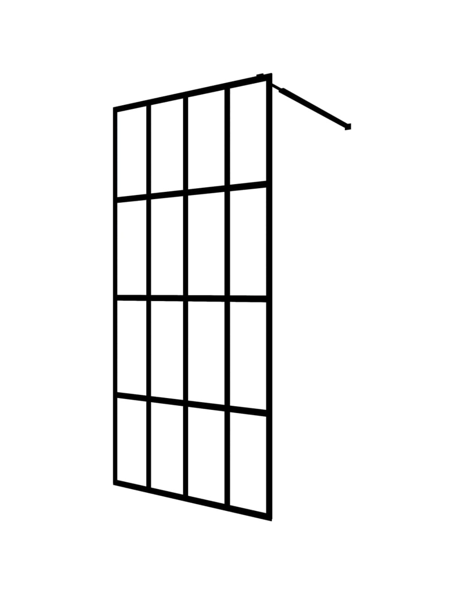 Inloopdouchewand 118x190 cm gehard glas