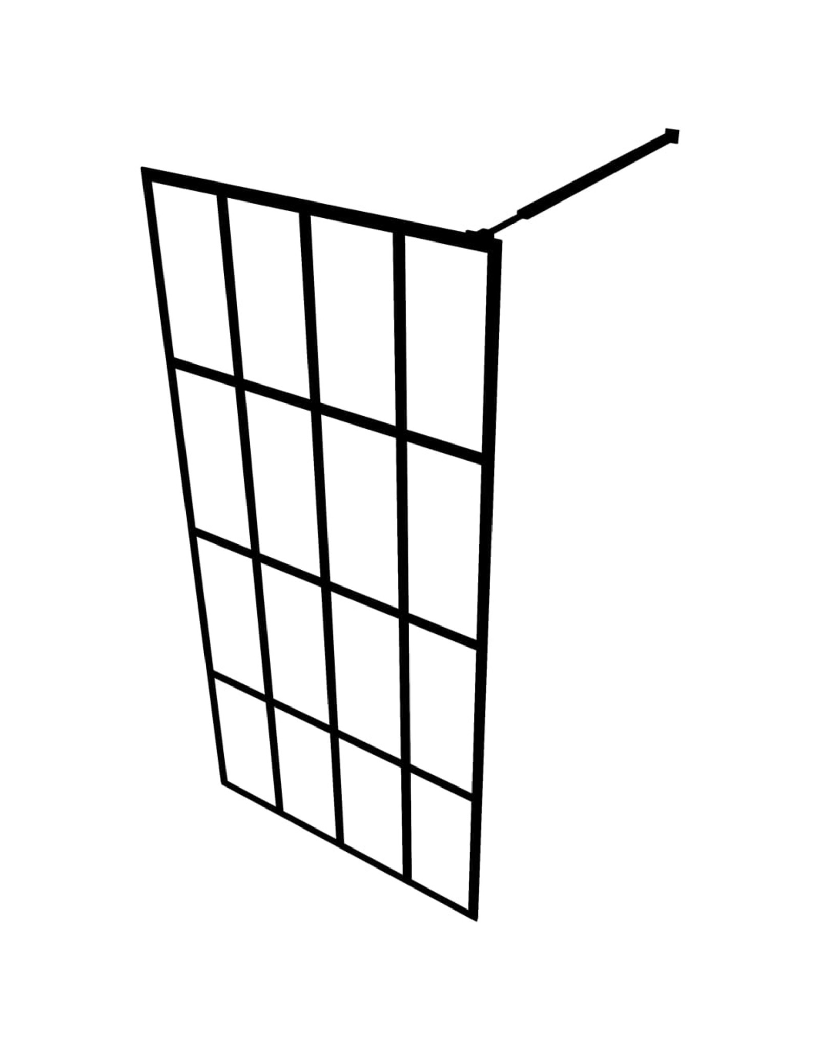 Inloopdouchewand 80x195 cm gehard glas