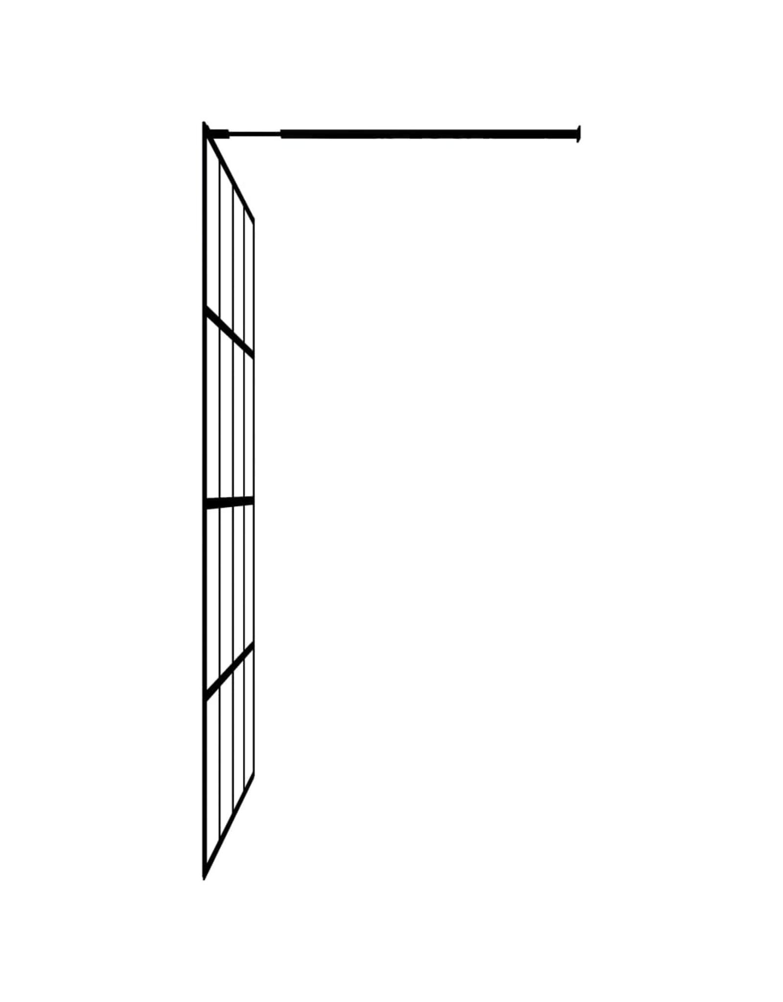 Inloopdouchewand 90x195 cm gehard glas