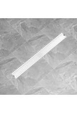 Doucheafvoer gestippeld 103x14 cm roestvrij staal