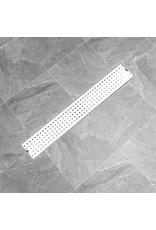 Doucheafvoer gestippeld 73x14 cm roestvrij staal