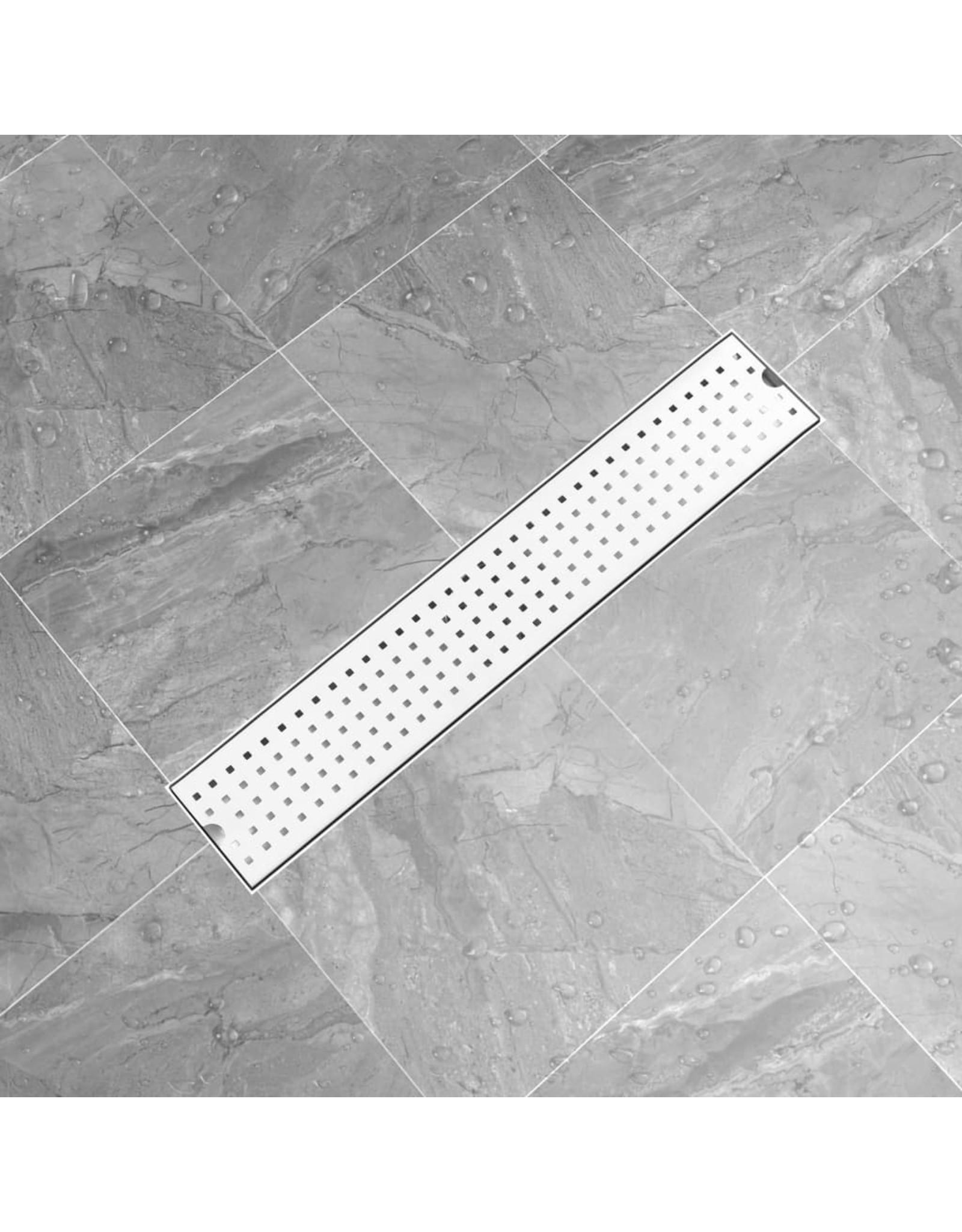 Doucheafvoer gestippeld 63x14 cm roestvrij staal