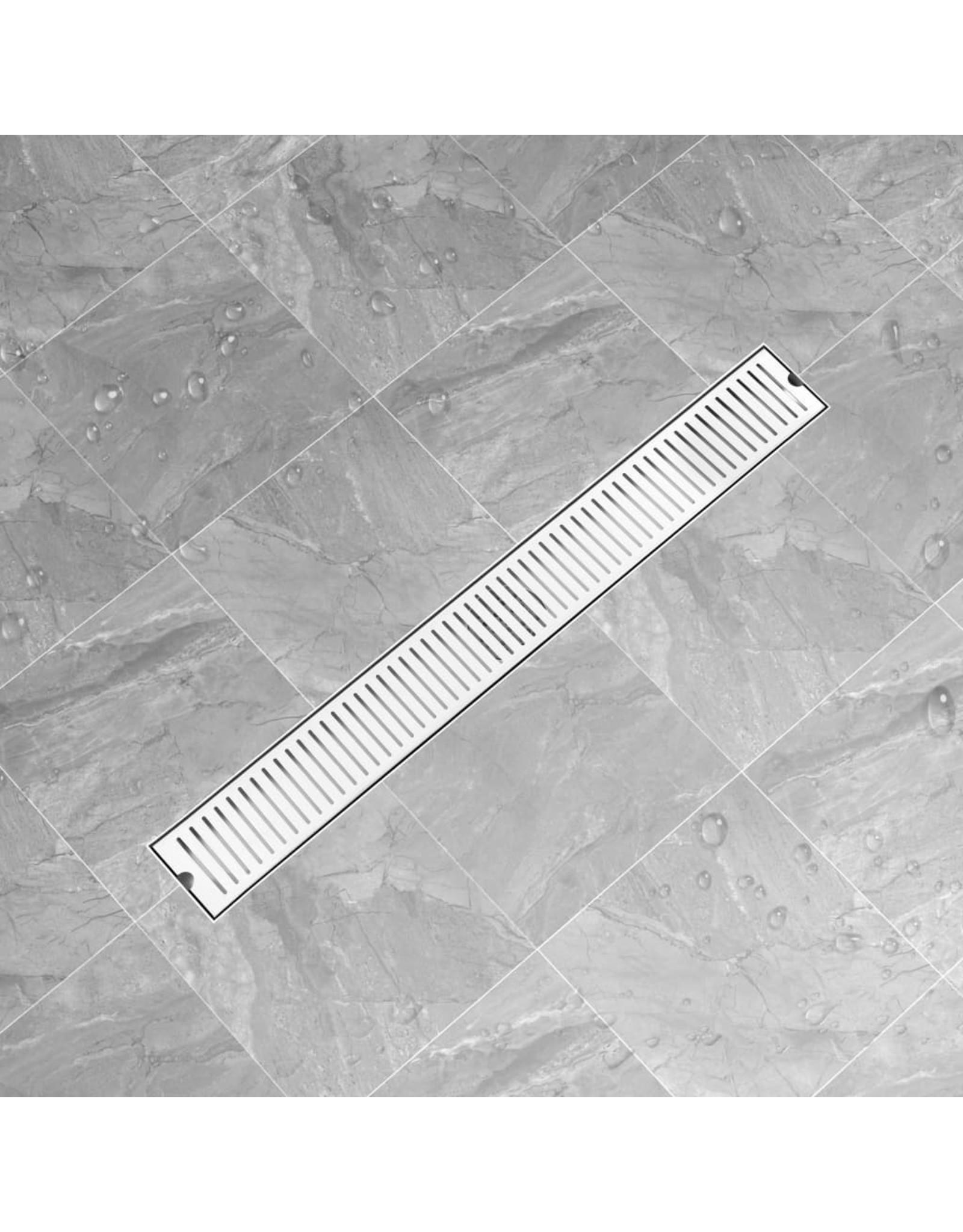 Doucheafvoer gesleufd 93x14 cm roestvrij staal