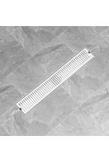 Doucheafvoer gesleufd 83x14 cm roestvrij staal