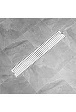 Doucheafvoer gesleufd 73x14 cm roestvrij staal