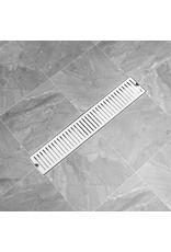 Doucheafvoer gesleufd 63x14 cm roestvrij staal