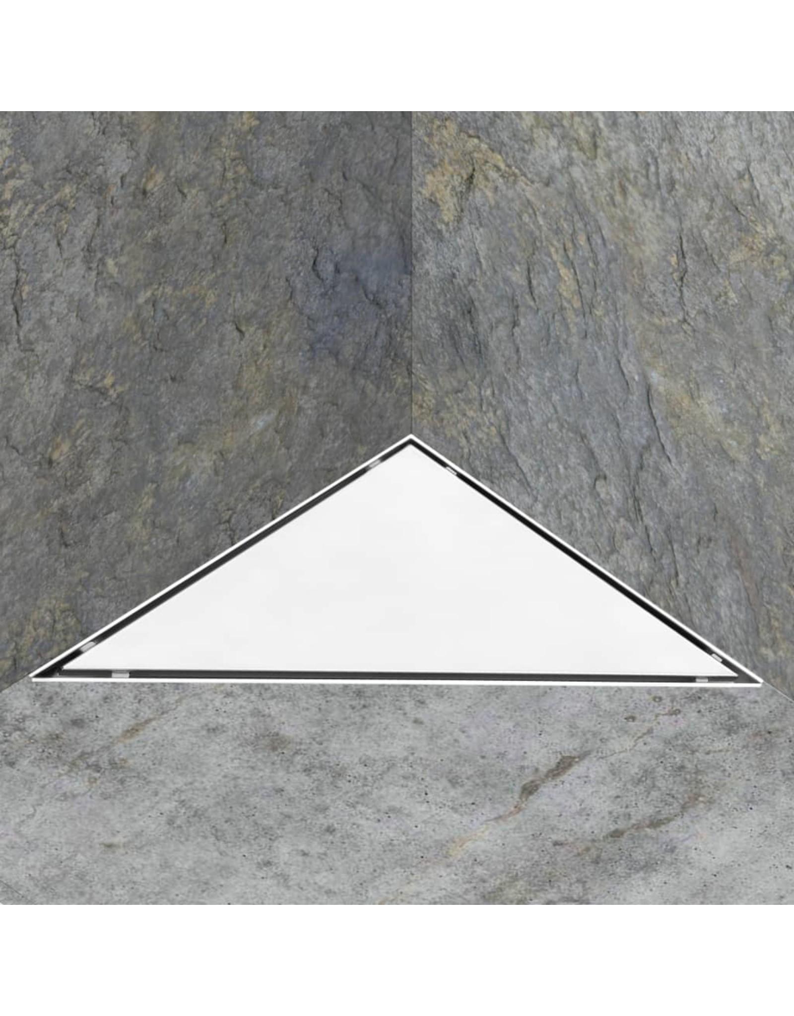 Doucheafvoer met 2-in-1 deksel 25x25 cm roestvrij staal