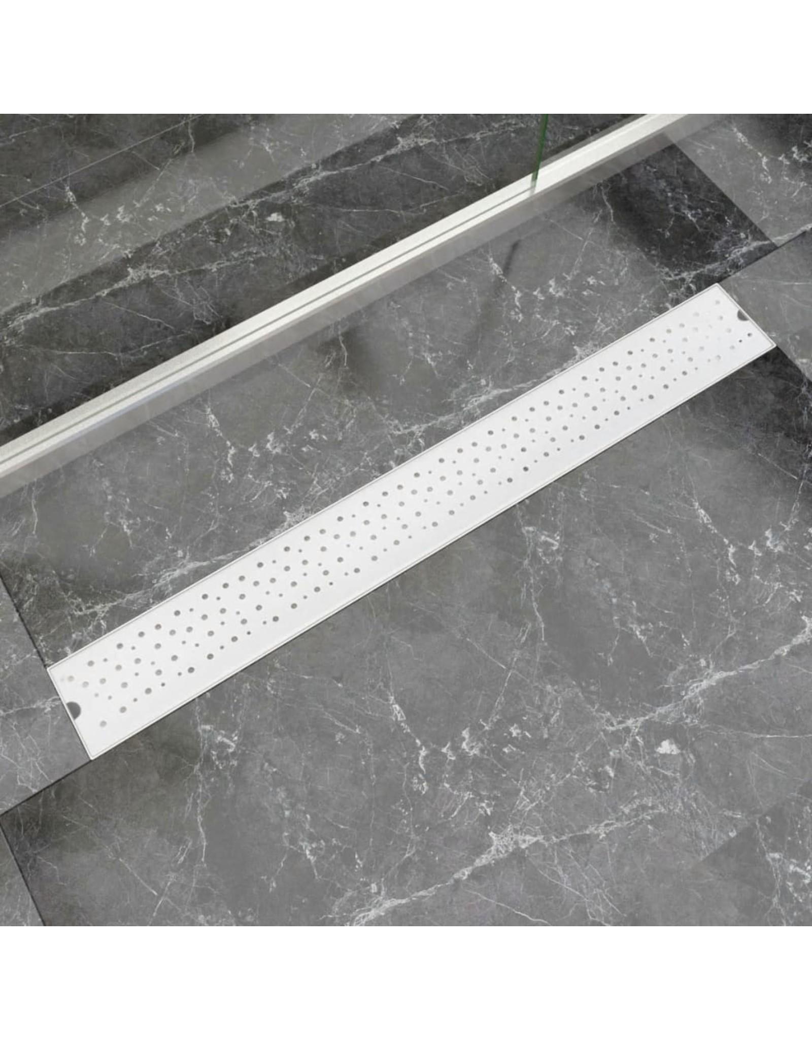 Doucheafvoer rechthoekig bubbel 930x140 mm roestvrij staal