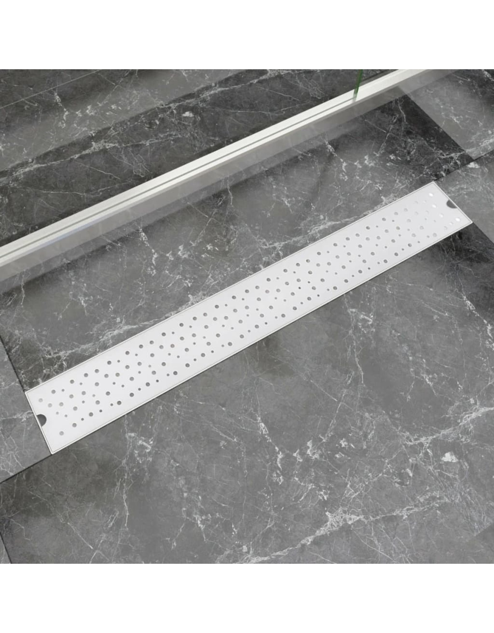 Doucheafvoer rechthoekig bubbel 830x140 mm roestvrij staal