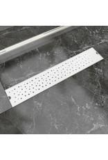 Doucheafvoer rechthoekig bubbel 630x140 mm roestvrij staal