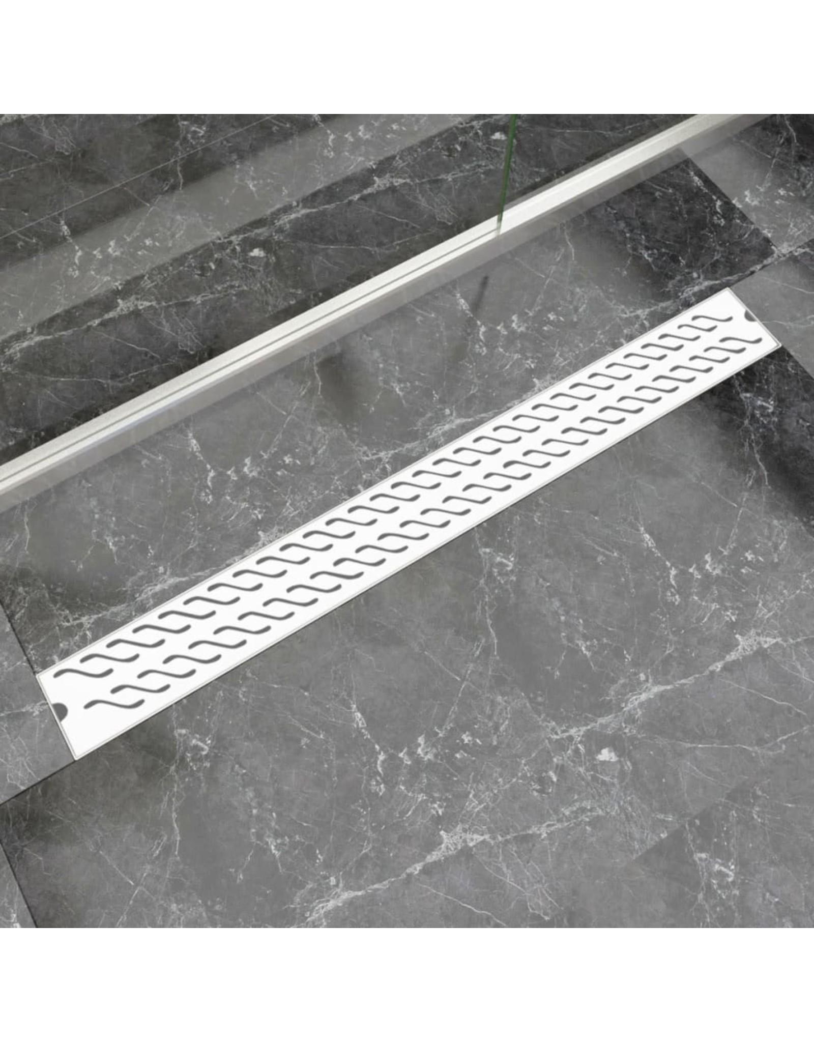 Doucheafvoer rechthoekig golf 1030x140 mm roestvrij staal