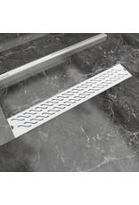 Doucheafvoer rechthoekig golf 730x140 mm roestvrij staal
