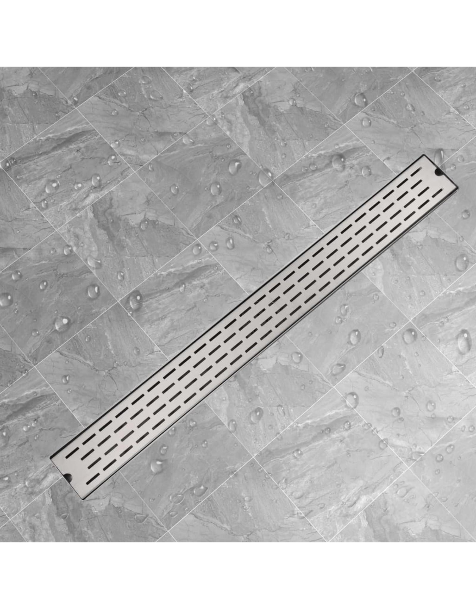 Douchegoot rechthoekig 1030x140 mm roestvrij staal
