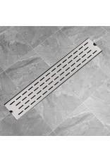 Douchegoot rechthoekig 630x140 mm roestvrij staal