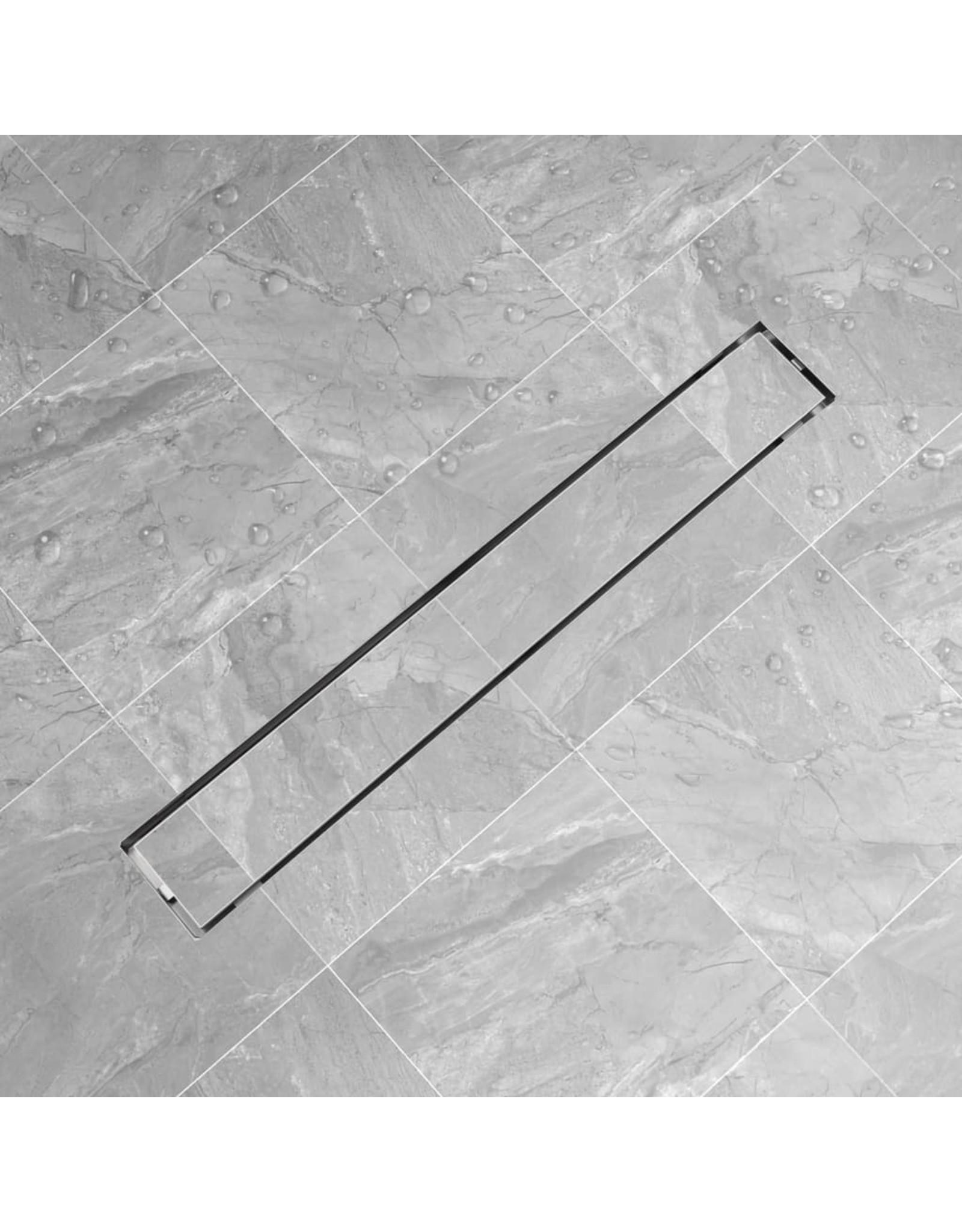 Doucheputje rechthoekig roestvrij staal 830x140 mm