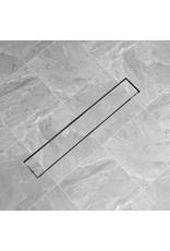 Doucheputje rechthoekig 730 x 140 mm roestvrij staal