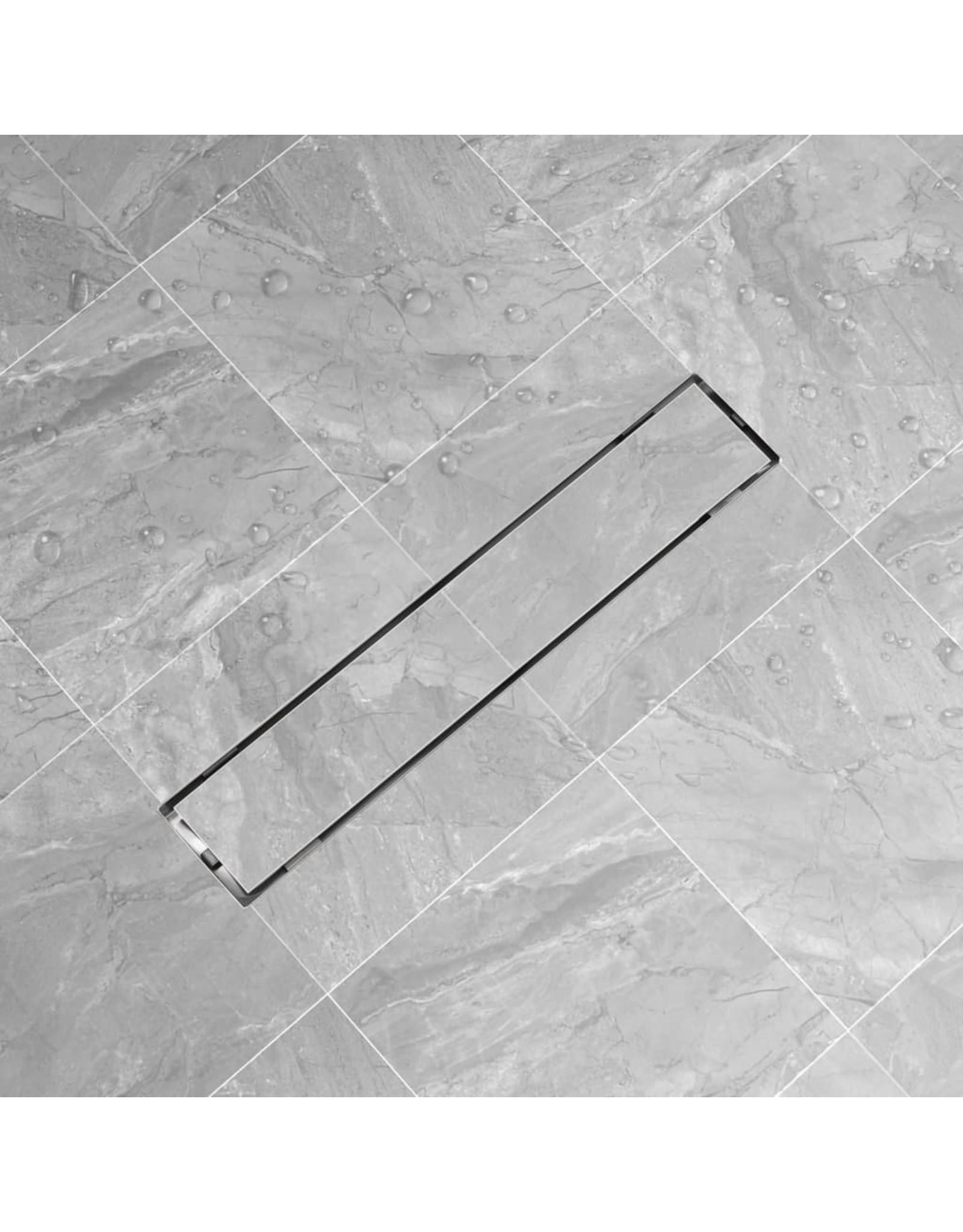 Doucheputje rechthoekig 630x140 mm roestvrij staal