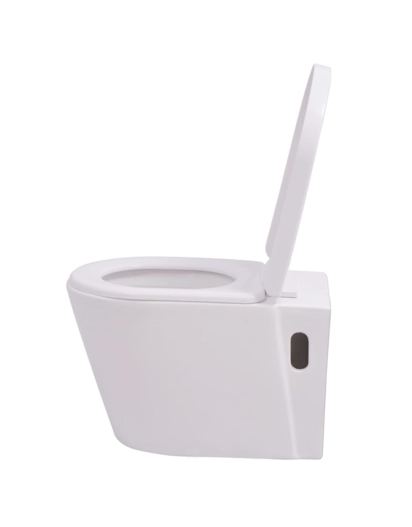Hangend toilet keramiek wit