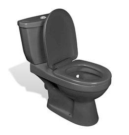 Toilet met stortbak zwart