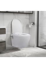 Hangend toilet randloos met bidetfunctie keramiek wit