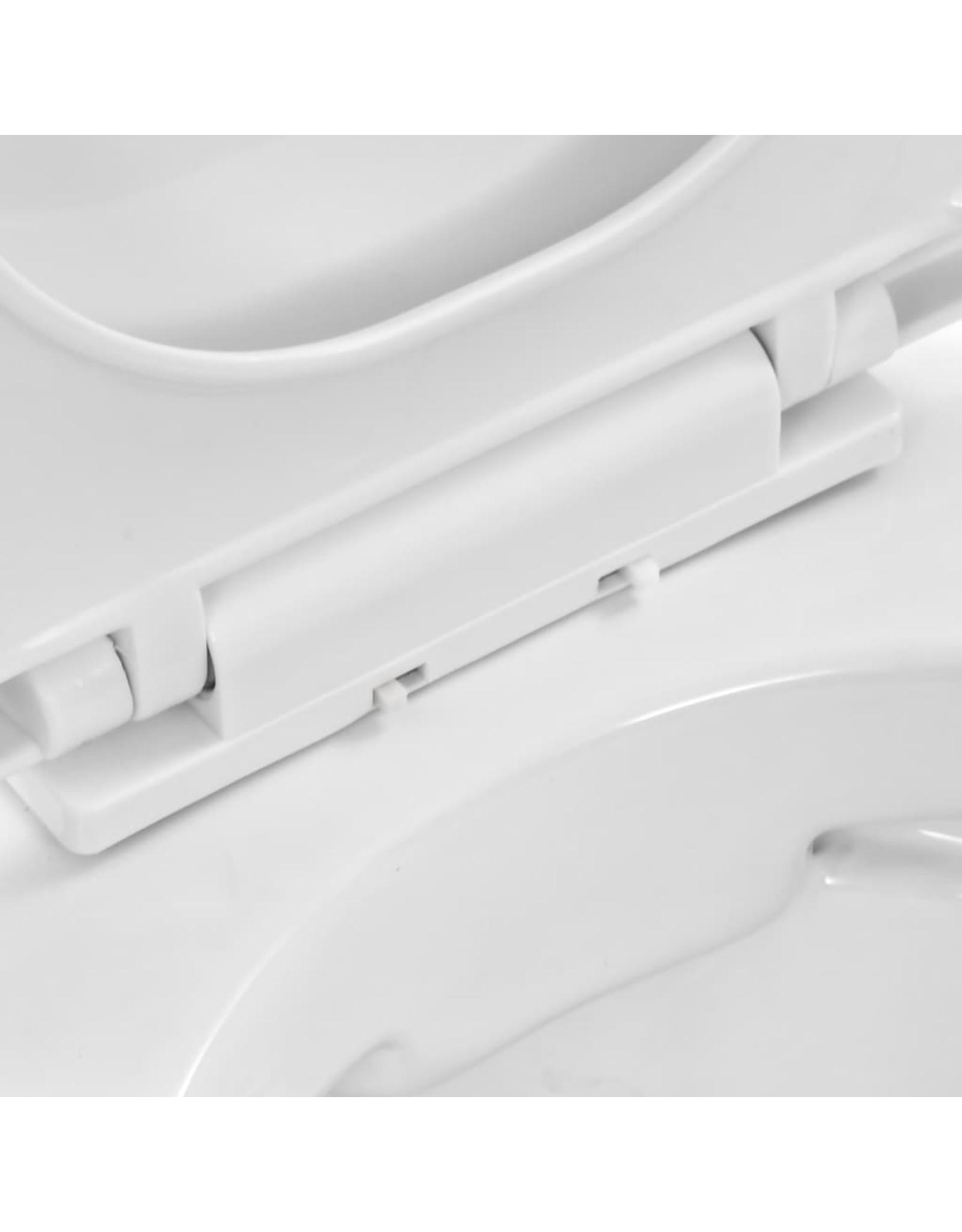 Hangend toilet randloos keramiek wit