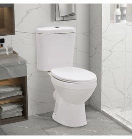 Staand toilet met stortbak en soft-close bril keramiek wit