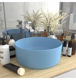 Wastafel rond 40x15 cm keramiek mat lichtblauw