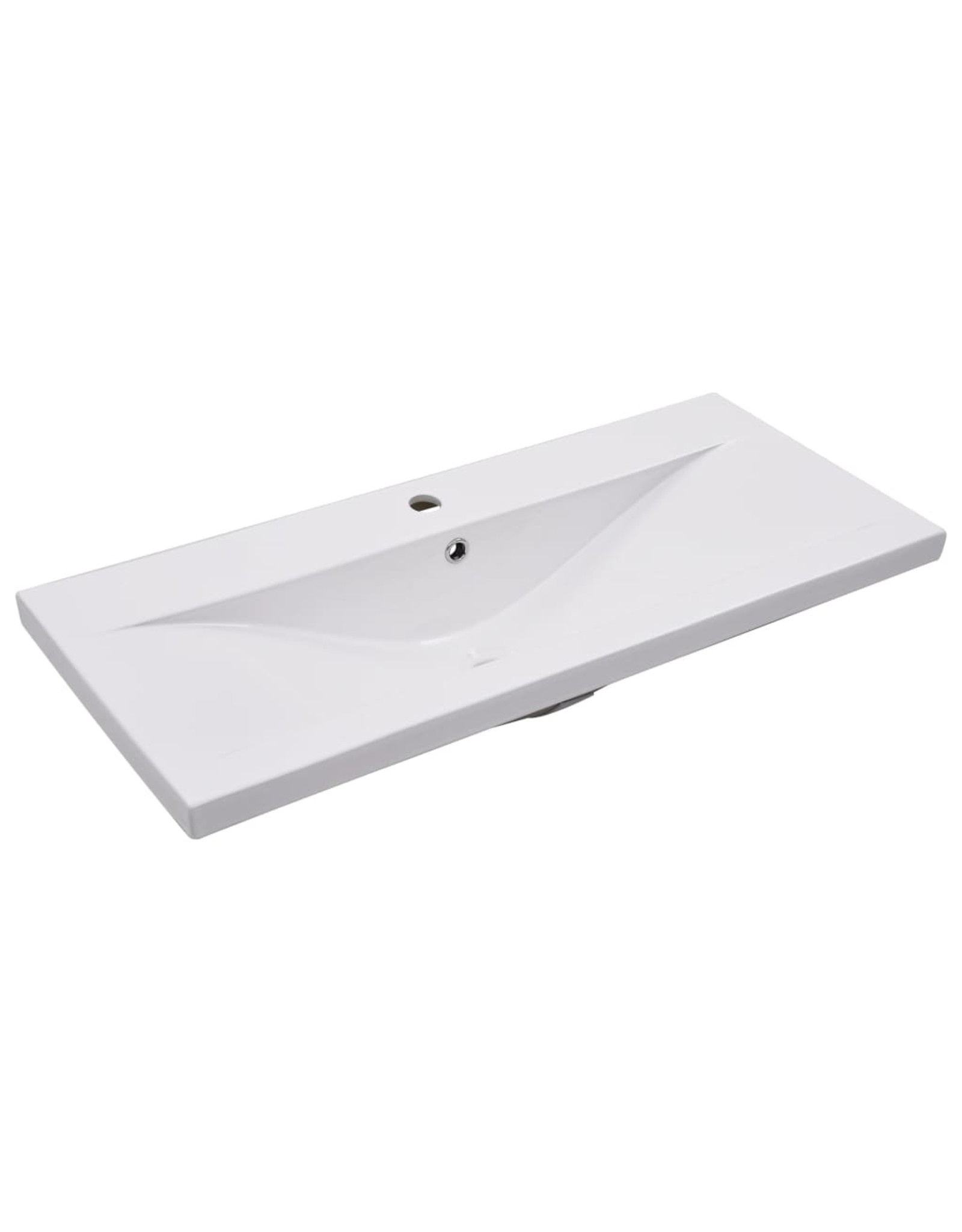 Inbouwwastafel 91x39,5x18,5 cm keramiek wit