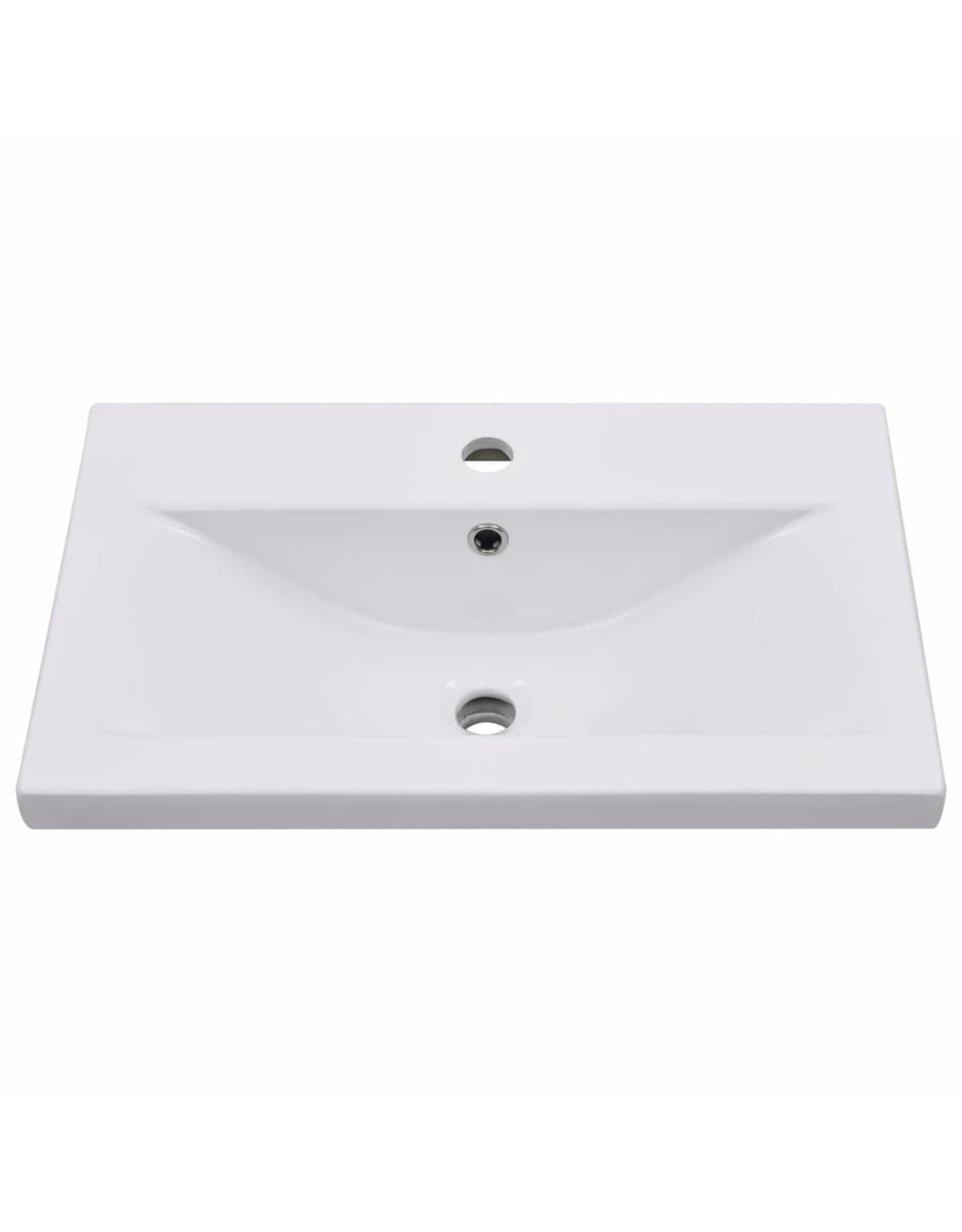 Inbouwwastafel 61x39,5x18,5 cm keramiek wit