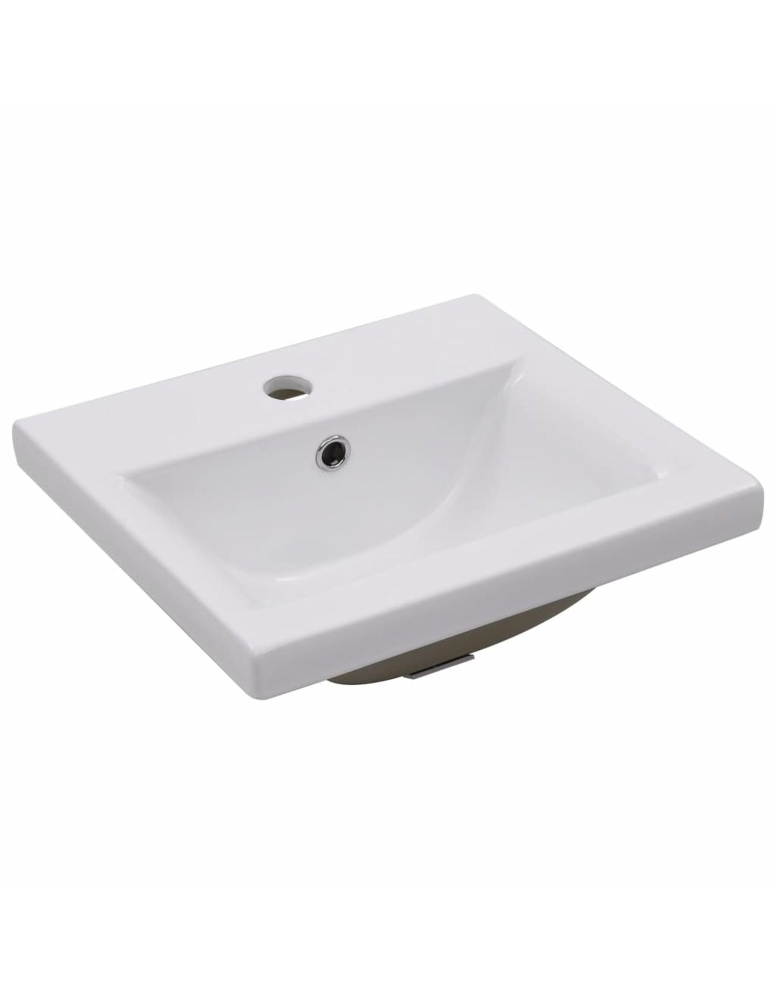 Inbouwwastafel 42x39x18 cm keramiek wit