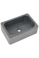 Gootsteen 45x30x15 cm riviersteen zwart