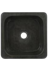 Gootsteen 30x30x15 cm riviersteen zwart