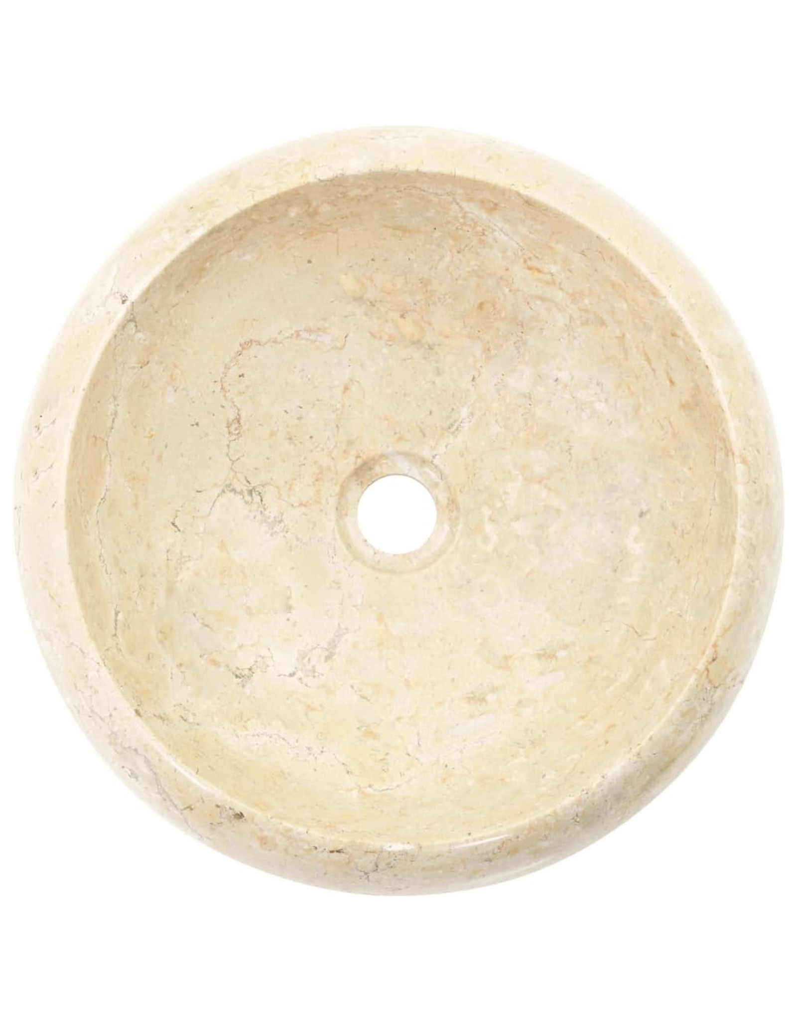 Gootsteen 40x12 cm marmer crème
