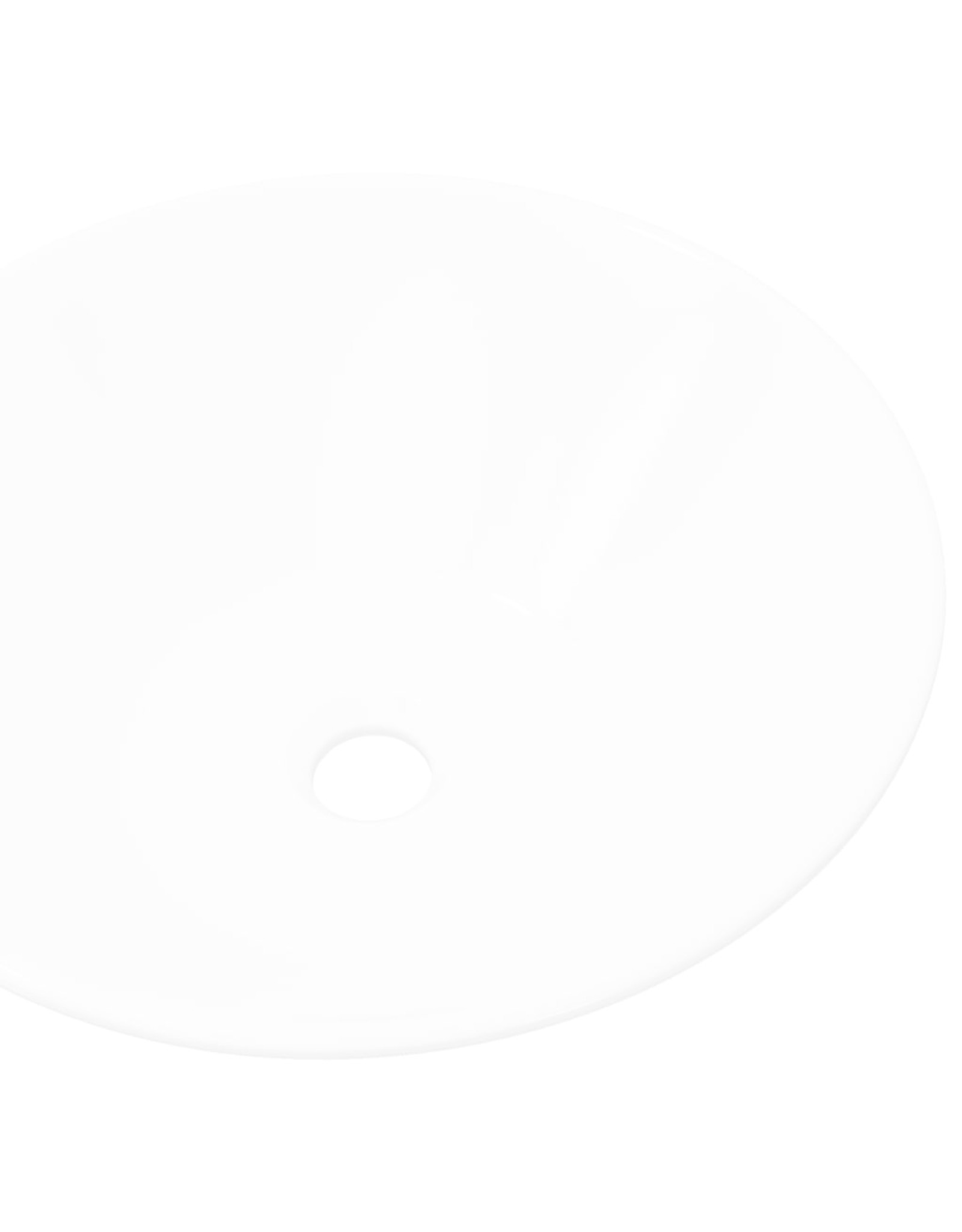 Keramische wasbak taps (wit)