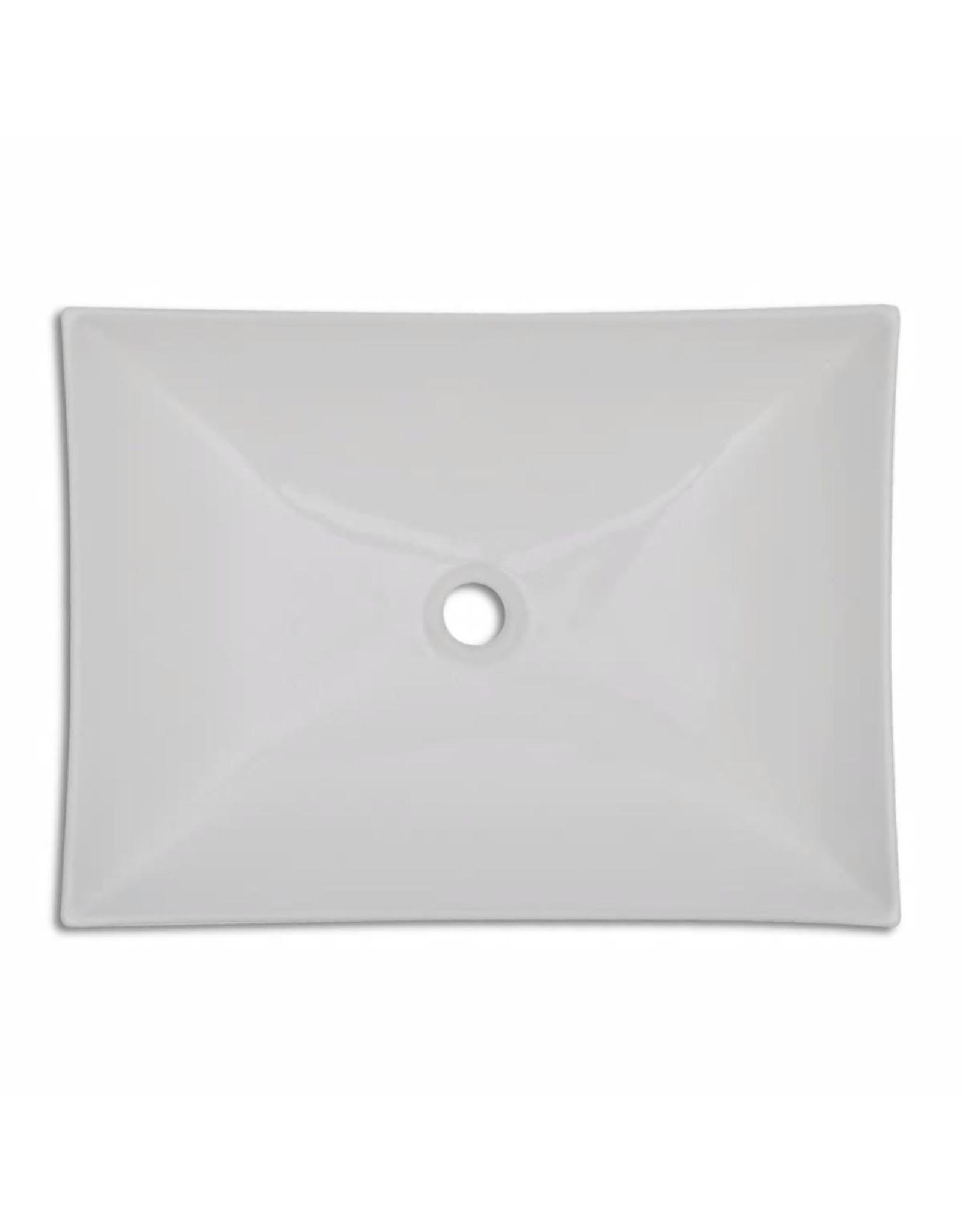 Keramische wasbak schaalvormig hoogglans (wit)