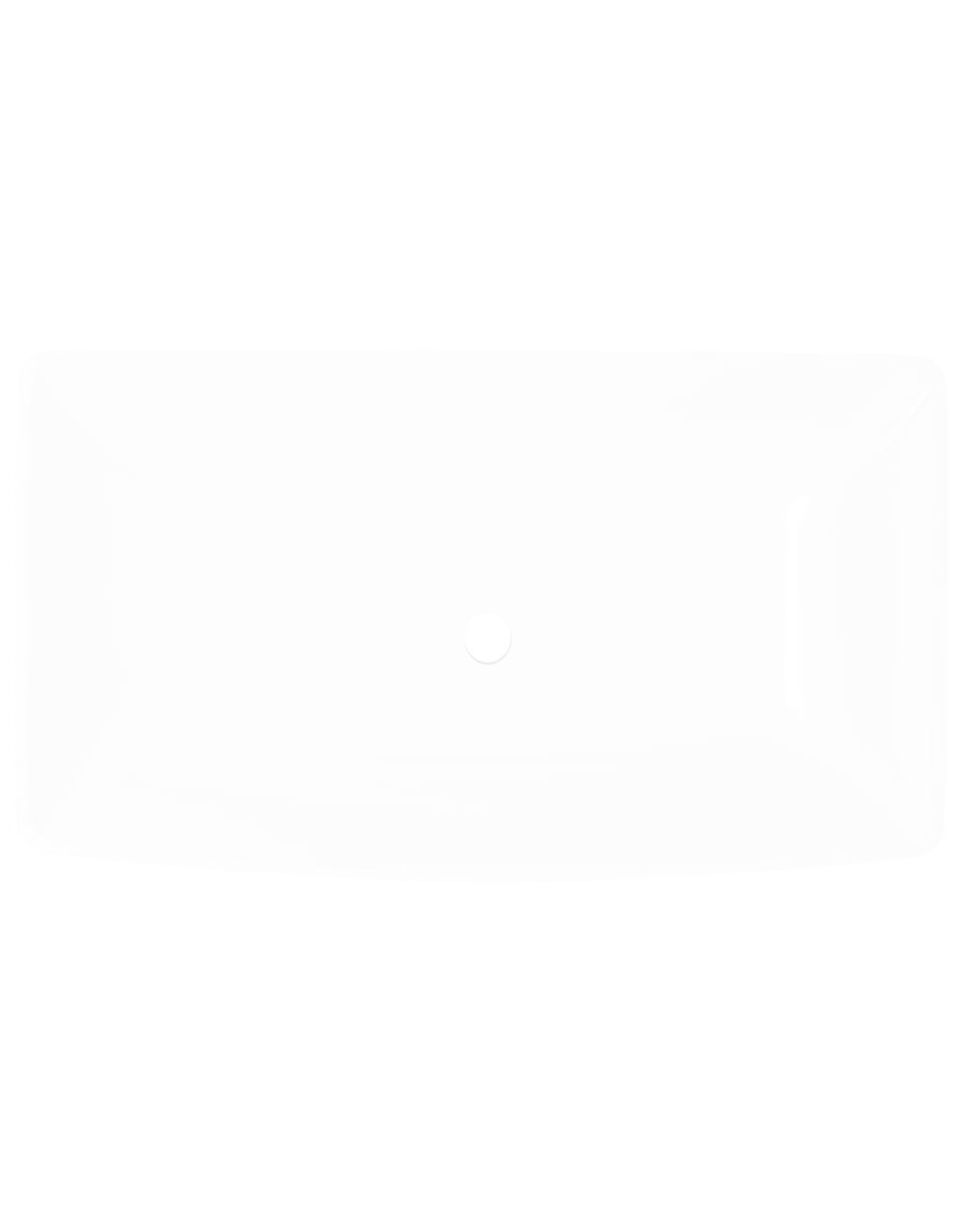 Luxe keramische rechthoekige wasbak 71 x 39 cm (wit)