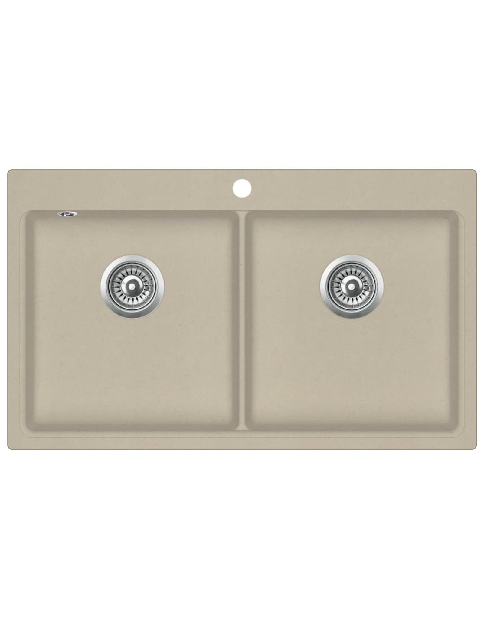 Gootsteen dubbele bakken graniet beige