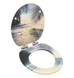 Toiletbril met soft-close deksel strand MDF