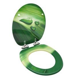 Toiletbril met soft-close deksel waterdruppel MDF groen