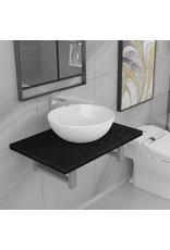 2-delige Badkamermeubelset keramiek zwart