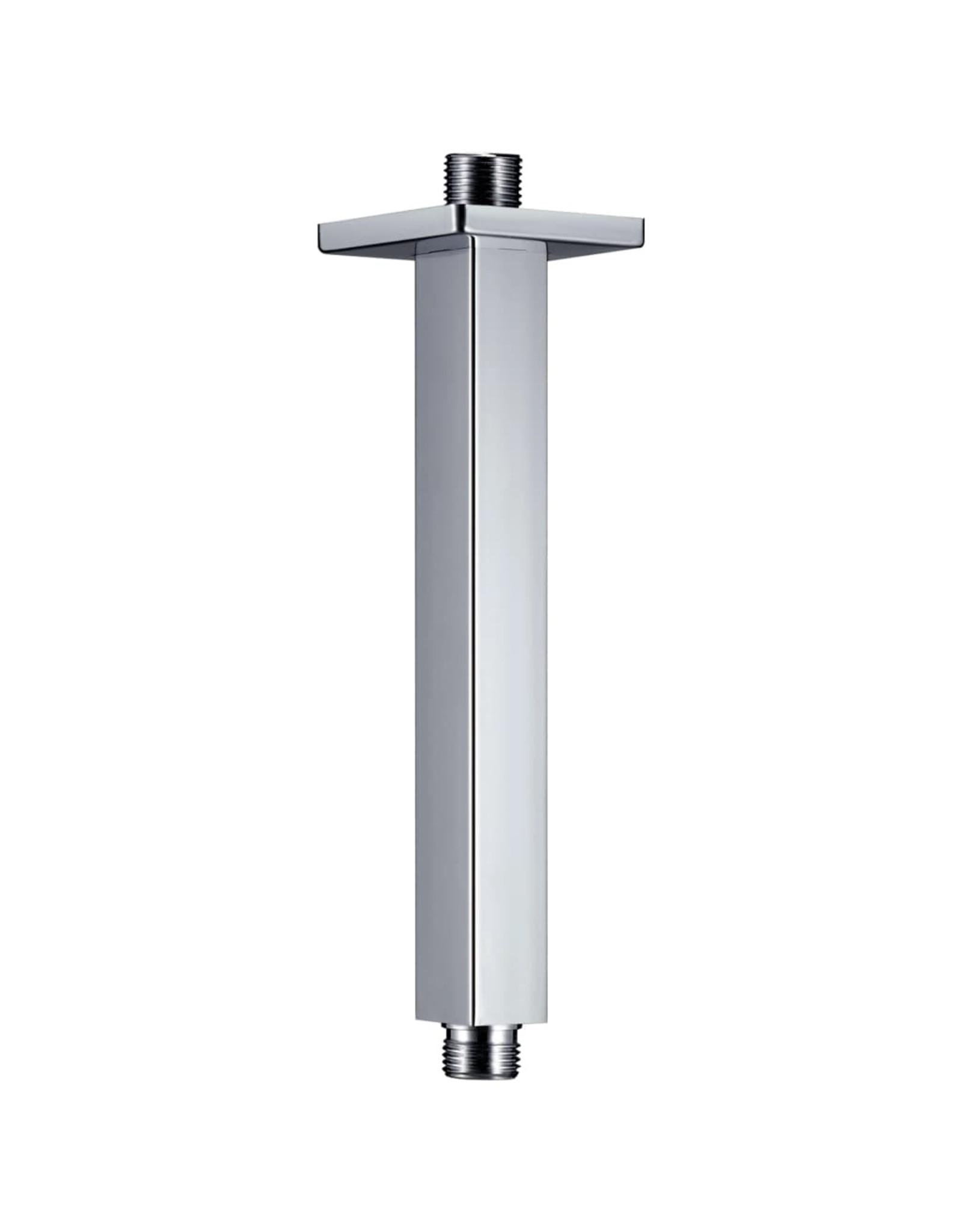 Douchearm vierkant 20 cm roestvrij staal 201 zilverkleurig