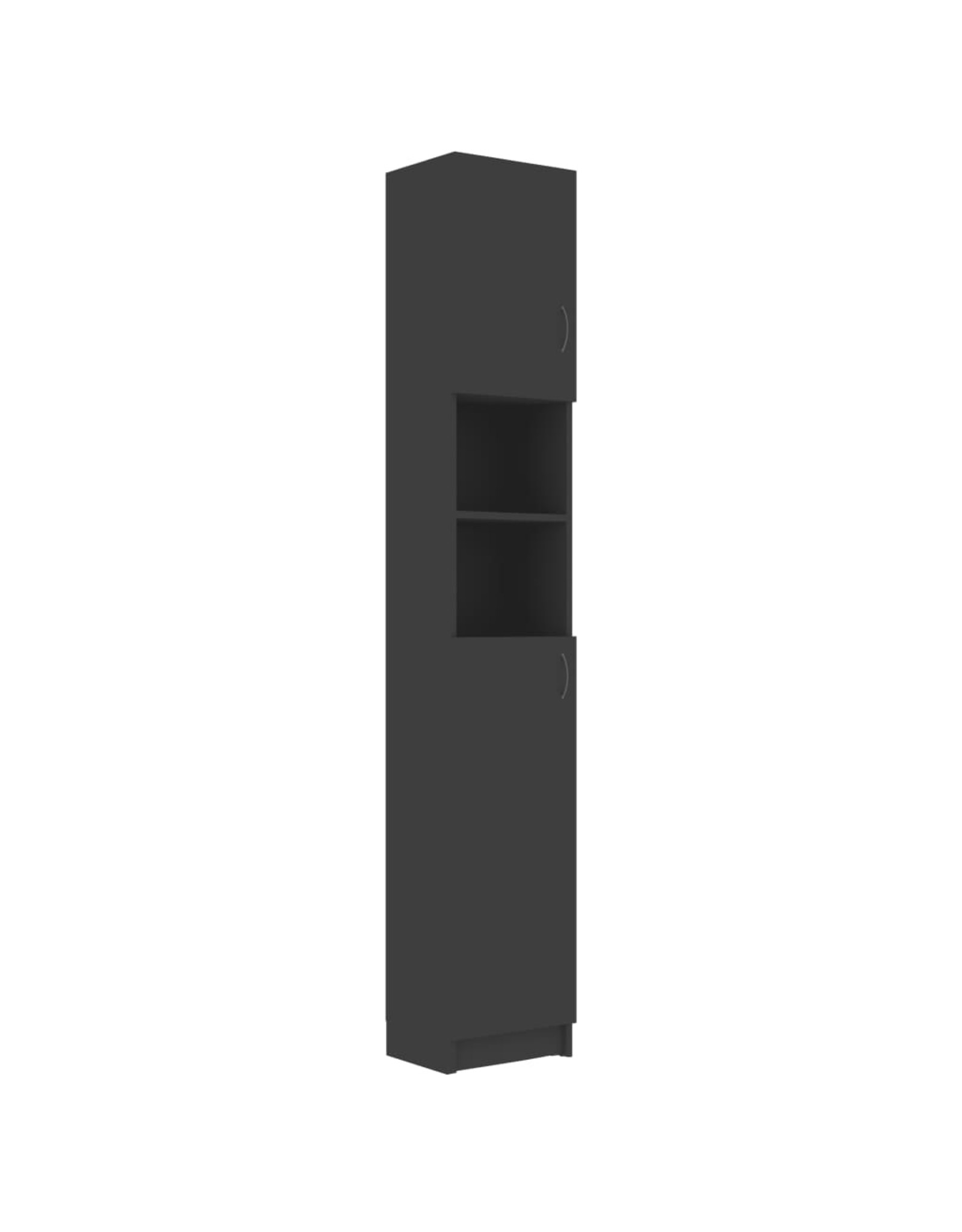 Badkamerkast 32x25,5x190 cm spaanplaat grijs