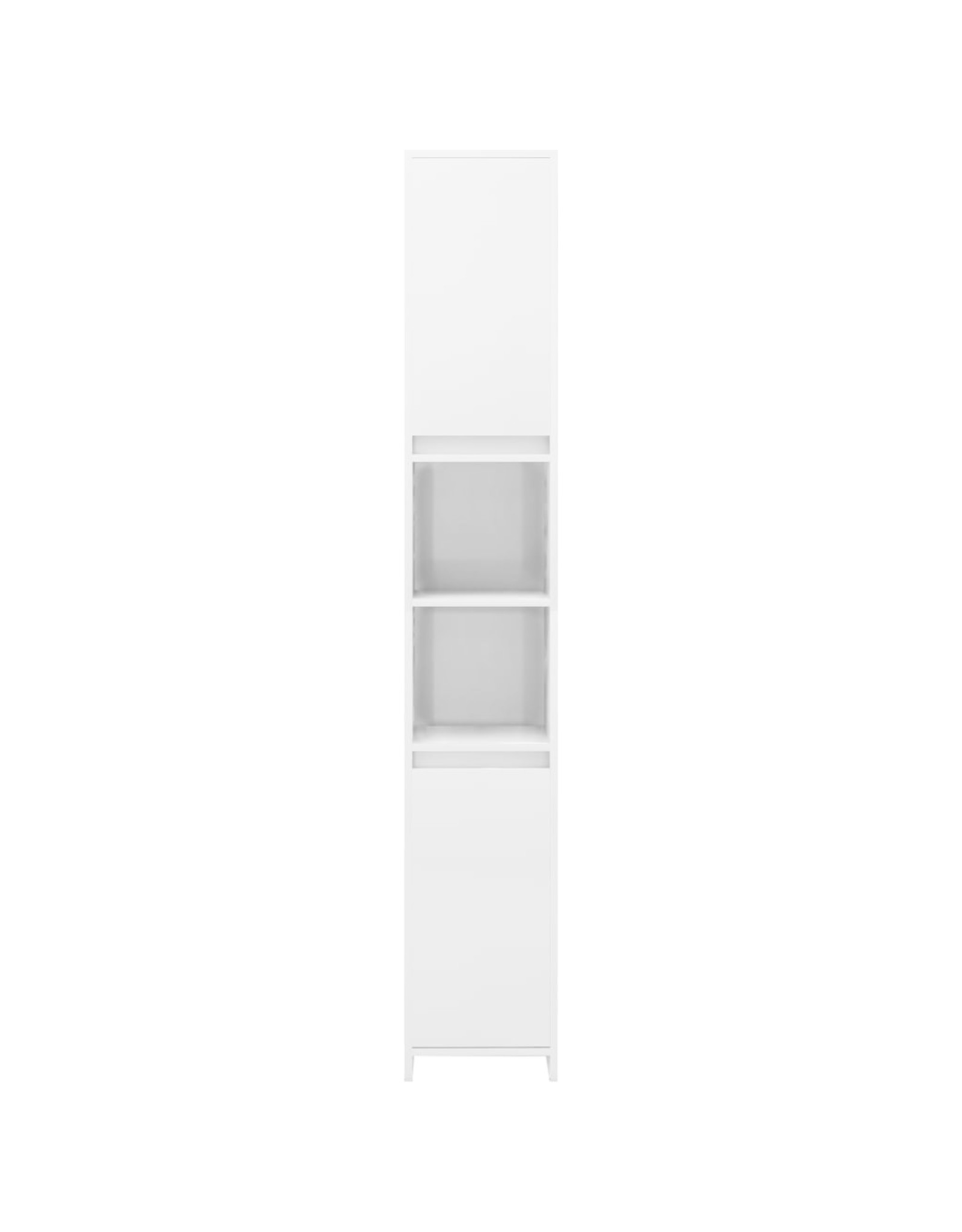 Badkamerkast 30x30x183,5 cm spaanplaat hoogglans wit