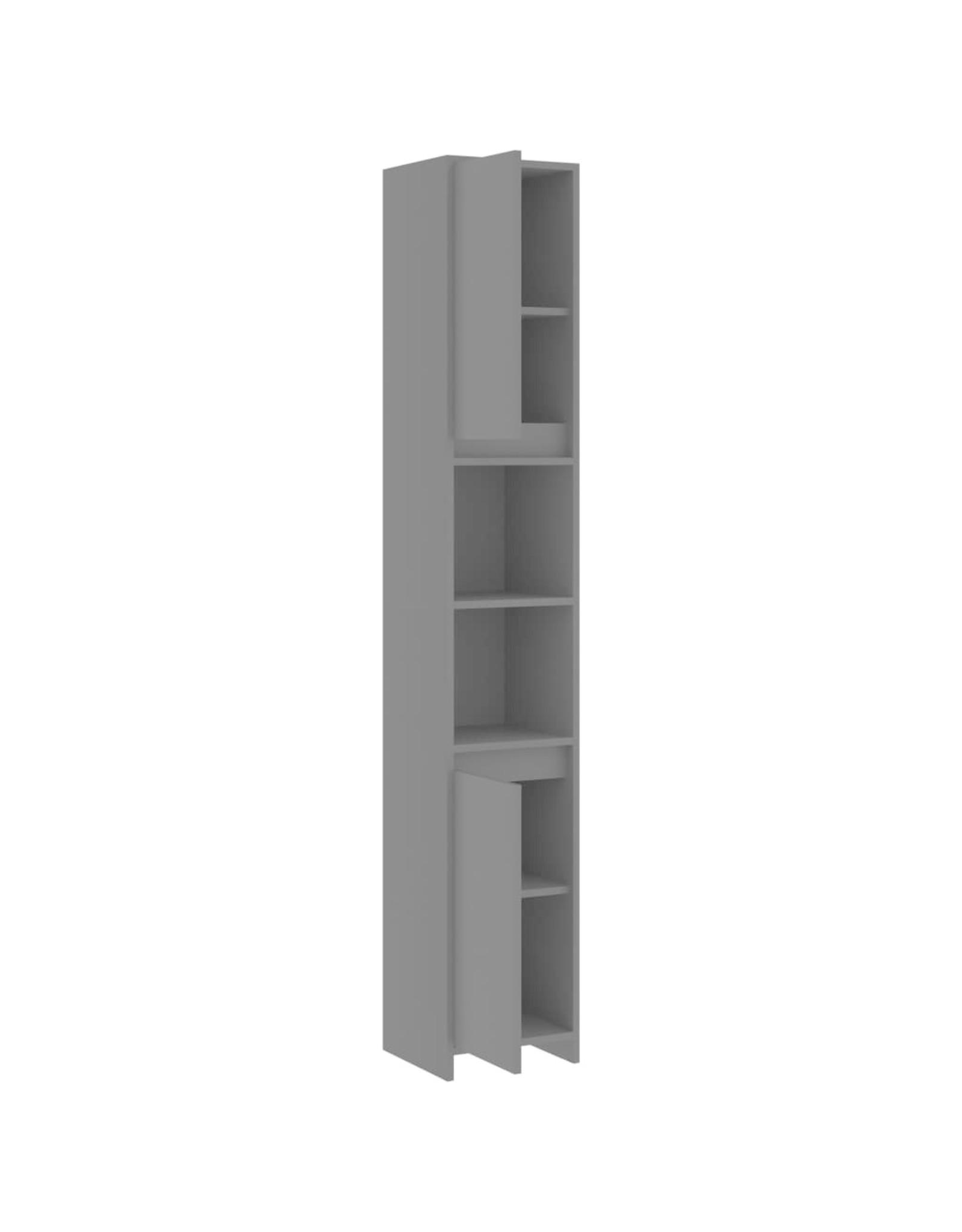 Badkamerkast 30x30x183,5 cm spaanplaat grijs
