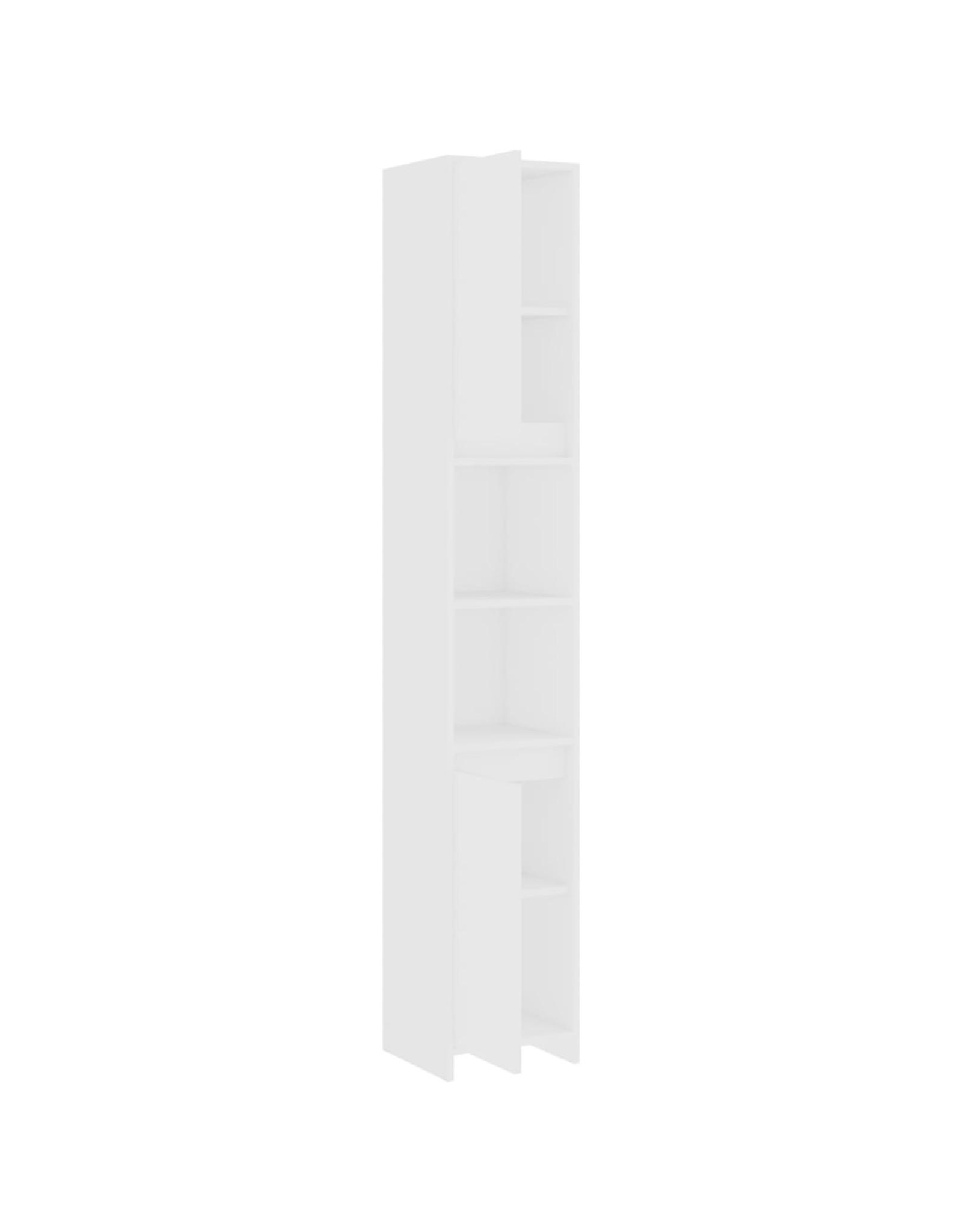 Badkamerkast 30x30x183,5 cm spaanplaat wit