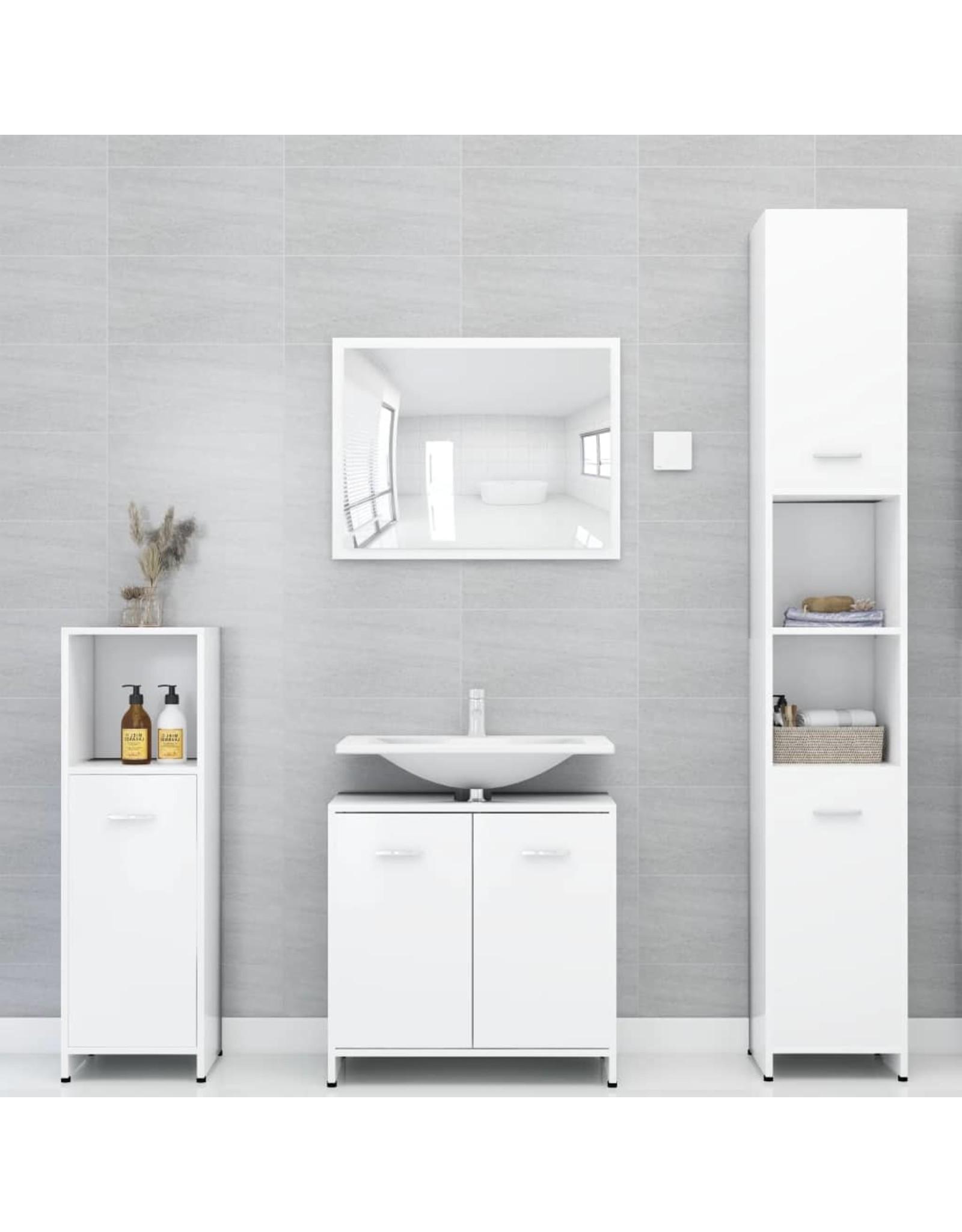 Badkamerkast 60x33x58 cm spaanplaat wit