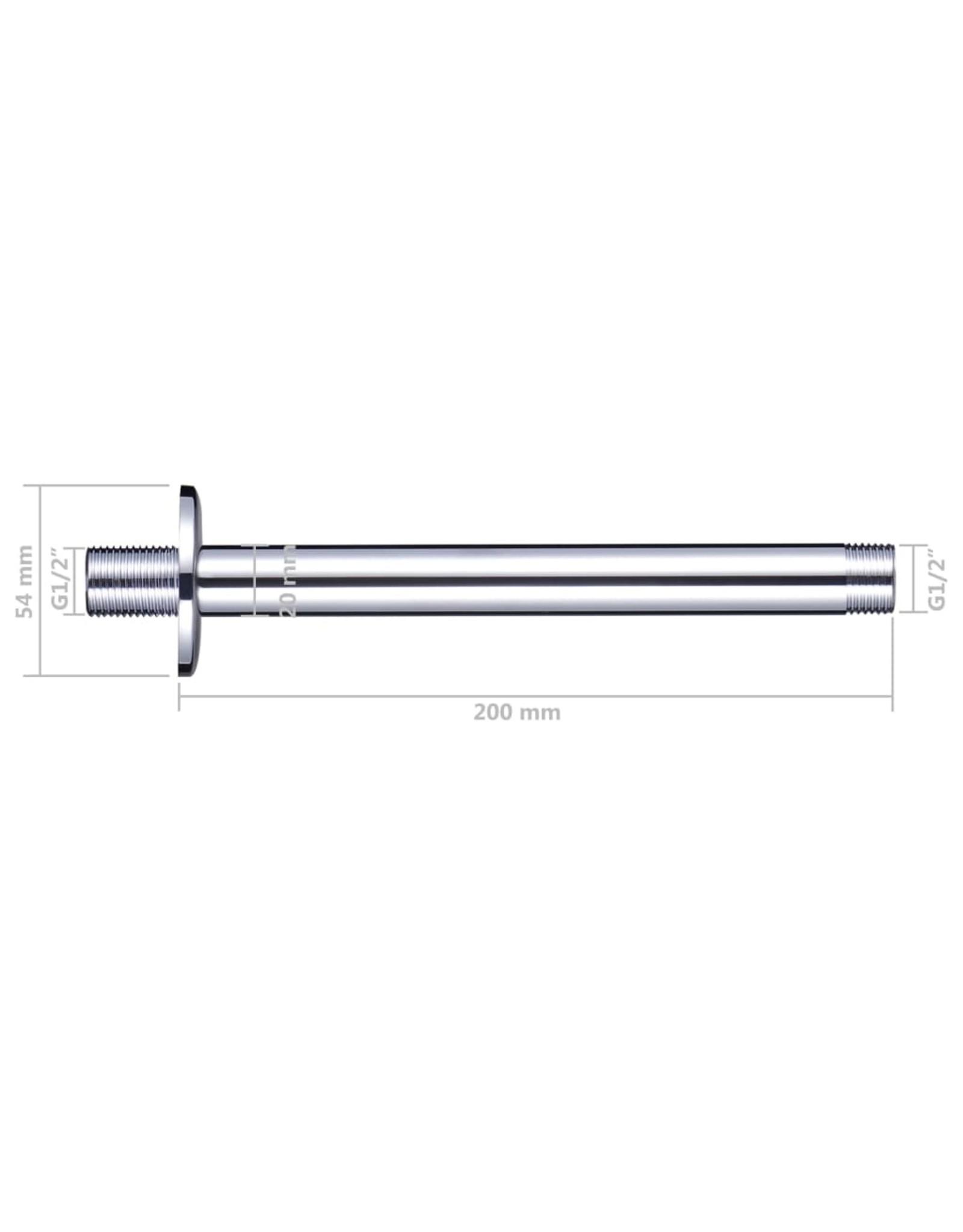 Douchearm rond 20 cm roestvrij staal 201 zilverkleurig