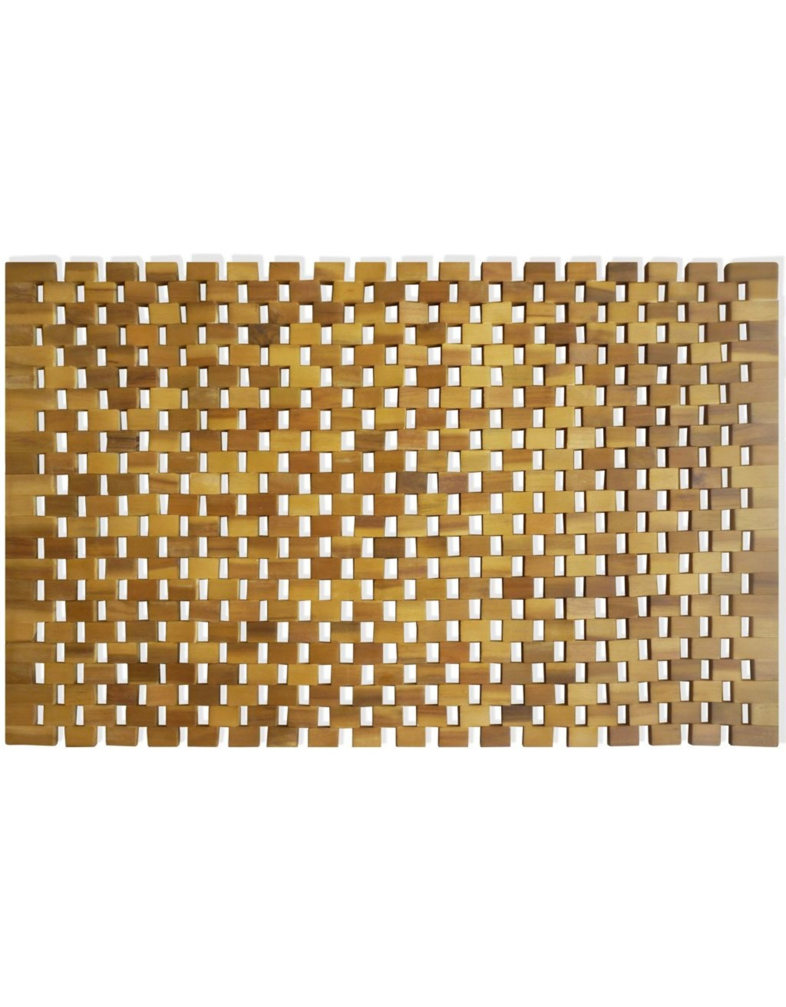 Badmat 80x50 cm acaciahout mozaïek