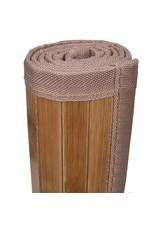 Badmatten 2 st 60x90 cm bamboe bruin
