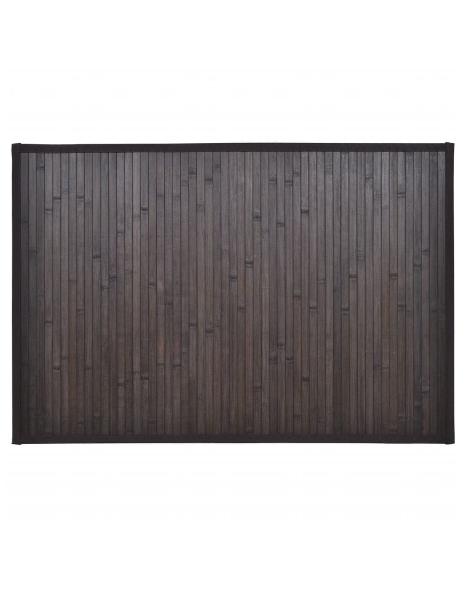 Badmatten 8 st 40x50 cm bamboe donkerbruin